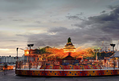 Helter-skelter Photograph - Carousel by Matthew Gibson