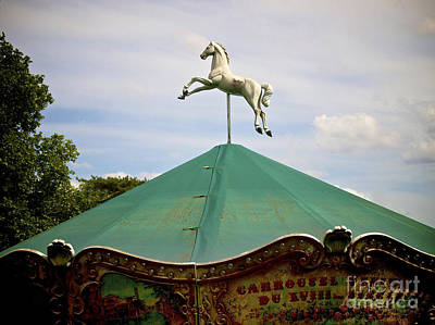 Carousel Horse Photograph - Carousel. Paris. France. by Bernard Jaubert