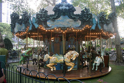 Horse Photograph - Carousel by Rick De Wolfe