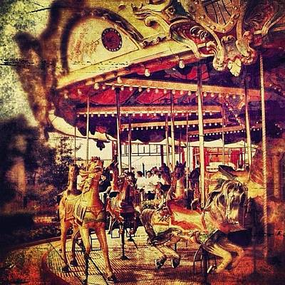 Horse Photograph - #carousel #ride #fun #amusement #horse by Jill Battaglia