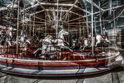 Chromatic Photograph - Carousel by Wayne Sherriff
