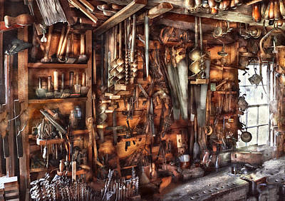 Carpenter - That's A Lot Of Tools  Print by Mike Savad
