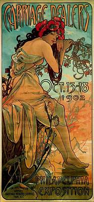 Art Dealer Painting - Carriage Dealers by Alphonse Marie Mucha