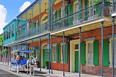 Balcony Photograph - Carriage Ride New Orleans by Christine Till