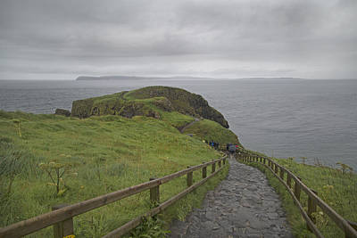 Carrick-a-rede Pathway Ireland Print by Betsy C Knapp