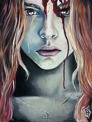 Chloe Painting - Carrie 2013 by Tom Carlton