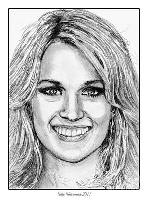 Nashville Drawing - Carrie Underwood In 2011 by J McCombie