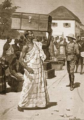 Uprising Drawing - Carriers Starting From Cape Coast by Ernest Prater