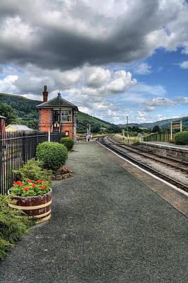Train Depot Photograph - Carrog Station by Ian Mitchell