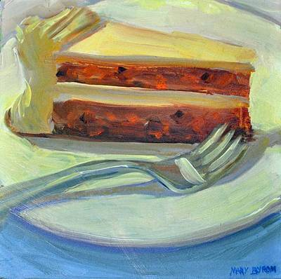 Painting - Carrot Cake by Mary Byrom