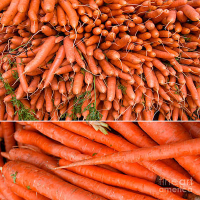 Food Photograph - Carrots At A Market by Sabine Jacobs