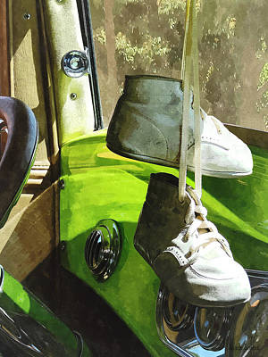 Shoe Photograph - Cars - Baby Shoes by Susan Savad