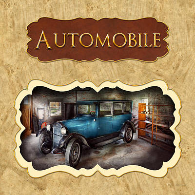 Antique Photograph - Cars Button by Mike Savad