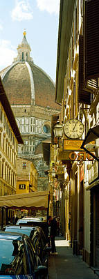 Duomo Photograph - Cars Parked In A Street by Panoramic Images
