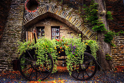 Stone House Photograph - Cart Of Colors by Ryan Wyckoff