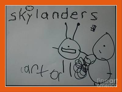 Animation Drawing - Carters Skylanders by Cindy McClung