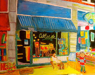 Painting - Cartes Etc. On Sherbrooke Street by Michael Litvack