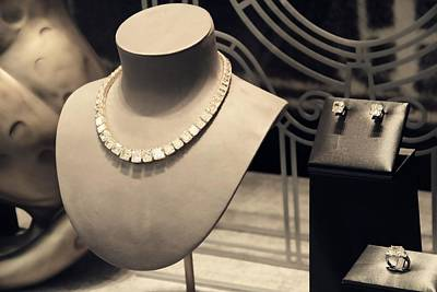 Diamond Necklace Photograph - Cartier Jewelry by Dan Sproul