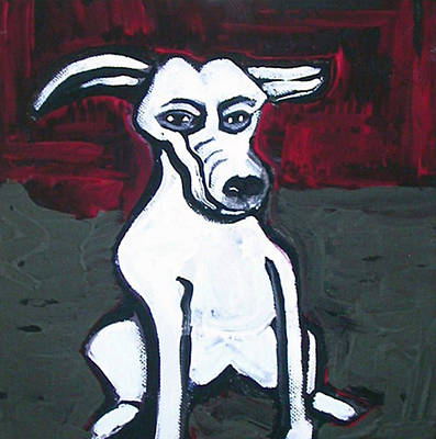 Tablou Painting - Cartoon Dog by Amy Marie Adams