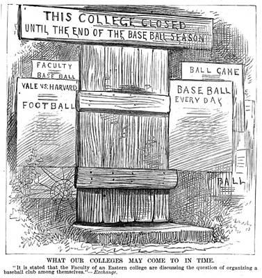 Baseball Painting - Cartoon University Sports by Granger