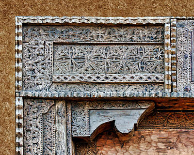 Hand Made Photograph - Carved Wooden Trim - Geometric Abstract by Nikolyn McDonald
