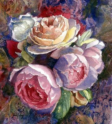 Painting - Caryn's Roses by Janet King