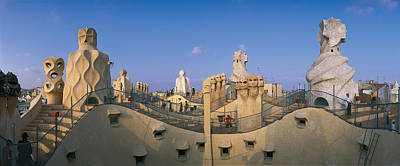 Rooftop Photograph - Casa Mila Barcelona Spain by Panoramic Images