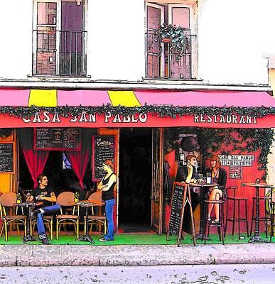 Casa San Pablo Restaurant Print by Jan Matson