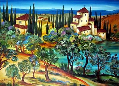 Italy Farmhouse Painting - Casali Toscani-tuscany Farmhouses by Roberto Gagliardi