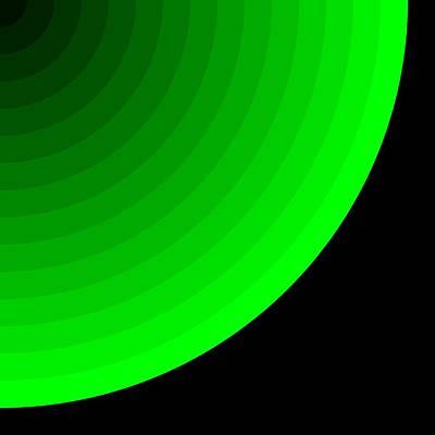 Green Digital Art - Cascade.8 by Gareth Lewis