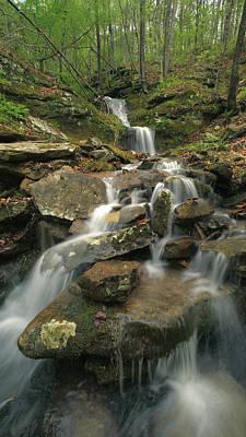 Cascading Creek Mulberry River Arkansas Print by Tim Fitzharris