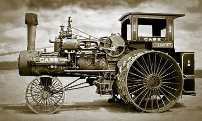 Greyhound Photograph - Case 110 Hp Steam Tractor by F Leblanc