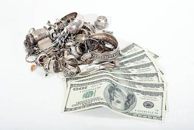 Sterling Silver Bracelet Photograph - Cash For Sterling Silver Scrap by Gunter Nezhoda