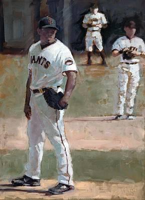 Baseball Art Painting - Casilla Close by Darren Kerr