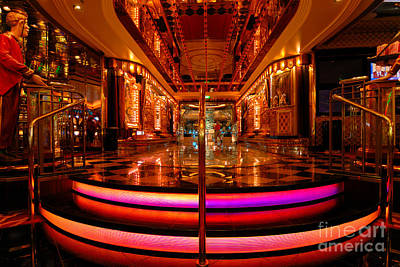 Casino Entrance Adventure Of The Seas Print by Amy Cicconi
