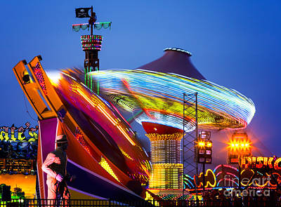 Seaside Heights Digital Art - Casino Pier Rides Seaside Heights by Jerry Fornarotto