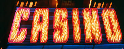 Casino Sign Las Vegas Nv Print by Panoramic Images