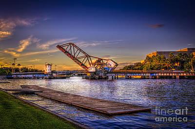 Tampa Skyline Photograph - Cass Street Bridge by Marvin Spates