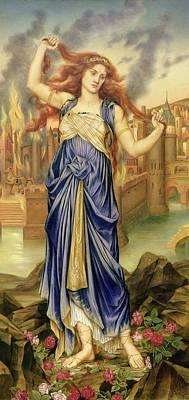 De Troy Painting - Cassandra by Evelyn De Morgan