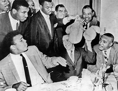 Press Conference Photograph - Cassius Clay Face Sonny  Liston by Underwood Archives
