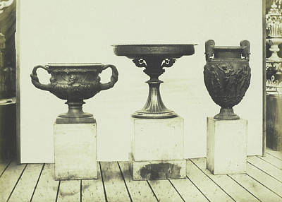 Cast Iron Drawing - Cast Iron Vases. Royal Prussian Foundry by Artokoloro