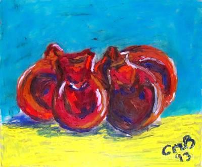 Brown Painting - Castanholas by Greg Mason Burns