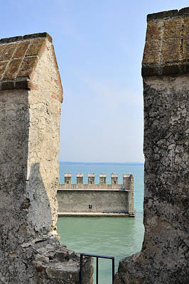 Turquois Water Photograph - Castello Scaligero Castle Sirmione Italy by Matthias Hauser