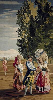 Tapestries Textiles Photograph - Castillo, Jos� Del 1737-1793. The Lady by Everett