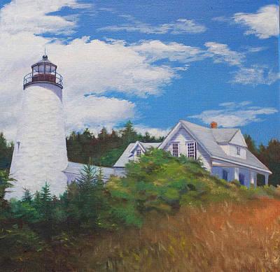 Penobscot Bay Painting - Castine Light by Judith McKenna