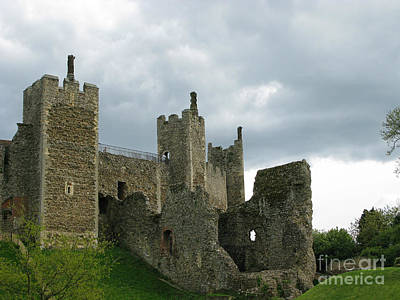 Castle Curtain Wall Print by Ann Horn