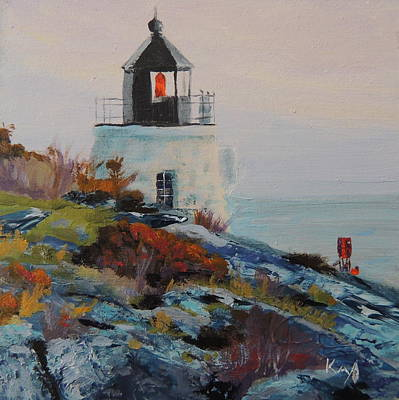 New England Lighthouse Painting - Castle Hill Lighthouse Newport Ri by Patty Kay Hall