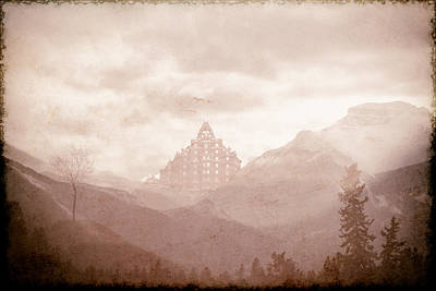 Textured Photograph - Castle In The Mountains by Eduardo Tavares