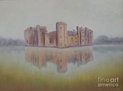 Carolinestreet Painting - Bodiam Castle by Caroline Street