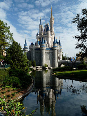 Magic Kingdom Photograph - Castle Reflections by Nora Martinez
